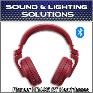 Pioneer DJ HDJ-X5BT-R Foldable Wireless Bluetooth DJ Over Ear Headphones (Red)