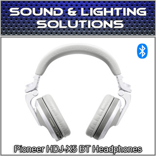 Pioneer DJ HDJ-X5BT-W Foldable Wireless Bluetooth DJ Over Ear Headphones (White)