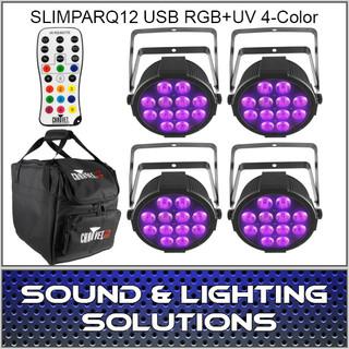 Chauvet DJ SlimPARQUV12 USB Four Pack Mobile IRC Control