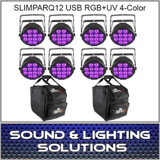 Chauvet DJ SlimPARQUV12 USB Eight Pack Mobile
