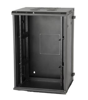 GRW2018509 18U, 21″ Deep Sectional Wall Rack, Glass Door (GRW2018509)