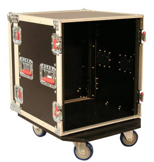 G-TOUR 12U CAST 12U, Standard Road Rack Case w/ Casters Flight Box (G-TOUR 12U CAST)