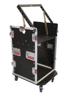 G-TOUR 10X12 PU 10U Top, 12U Side Road Rack Case Flight Box (G-TOUR 10X12 PU)