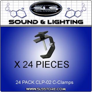 Chauvet DJ CLP-02 - Heavy Duty Clamp 24 PACK!