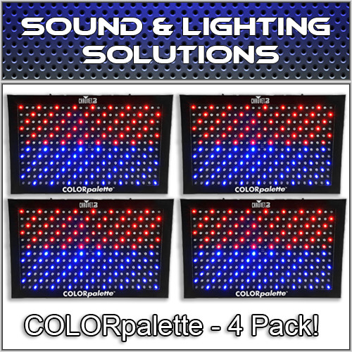 (4) Chauvet DJ COLORpalette 288 LED RGB Panel Wash