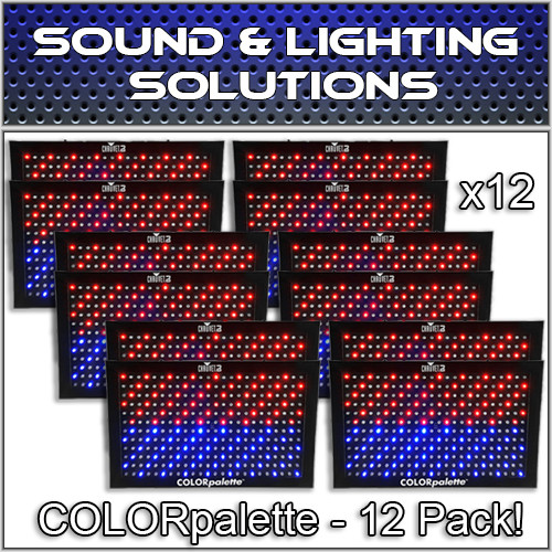 (12) Chauvet DJ COLORpalette 288 LED RGB Panel Wash