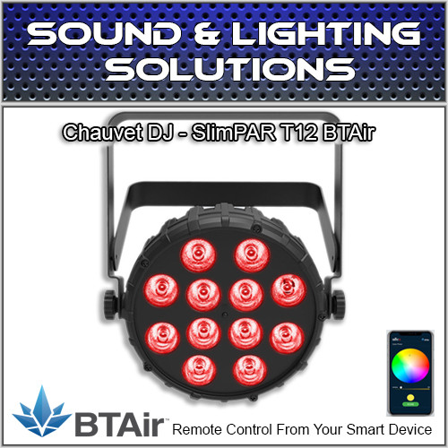 Chauvet DJ SlimPAR T12 BT (RGB) Wash Light with built-in Bluetooth (BTAir)