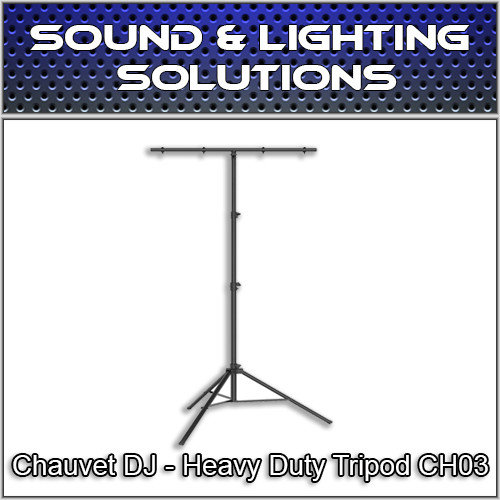 Chauvet DJ CH 03 Heavy-Duty T-Bar Tripod Lighting Stand