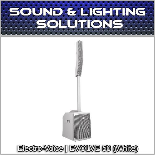 Electro-Voice Evolve 50 Portable 1000W Column PA System w Bluetooth +Sub (White)