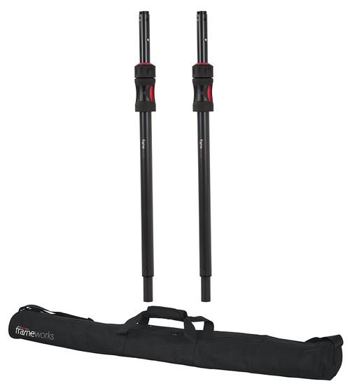 GFW-ID-SPKRSET Gator Cases Frameworks ID Series Adjustable Subwoofer Poles with Carrying Bag