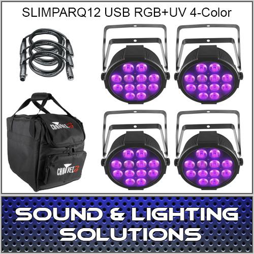 Chauvet DJ SlimPARQUV12 USB Four Pack Mobile