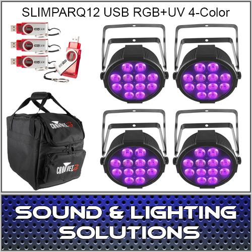 Chauvet DJ SlimPARQUV12 USB Four Pack Dfi
