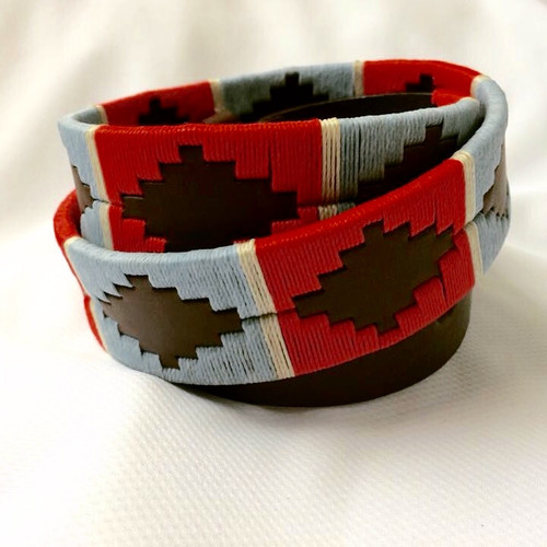 Argentine Belt (Light Blue/Red)