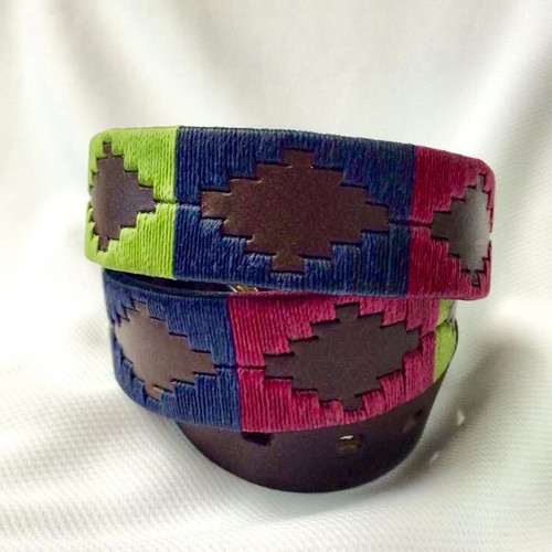Argentine Belt (Lime Green/Navy/Purple)
