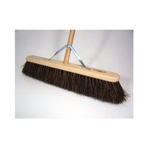 "Yard Broom 18"" long wooden handle"