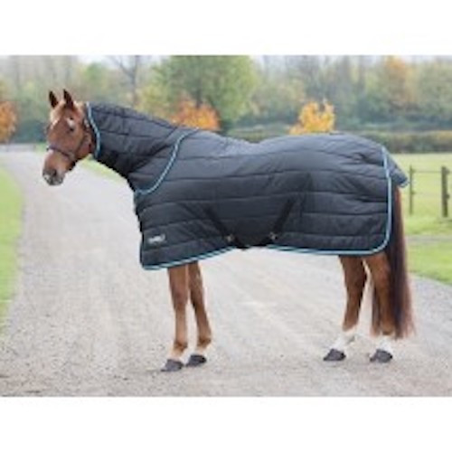 When temperatures start dropping this 200g stable rug is ideal. The polyester 210 denier outer resists stable scuffs and is breathable for comfort. Removable neck covers offer great layering options as the temperatures drop. This neck cover attaches and fastens with touch close fastenings. Key features: 210 denier outer, 200g quilted polyfill, blanket set chest fastenings, adjustable cross surcingles, fillet string, tail flap Durable, dependable, excellent value! Tempest Original rugs offer exceptional value for those wanting a good, dependable turnout rug.