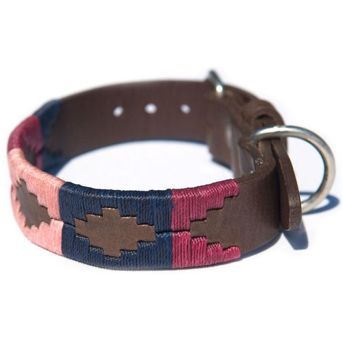 Navy/Pink/Berry Dog Collar