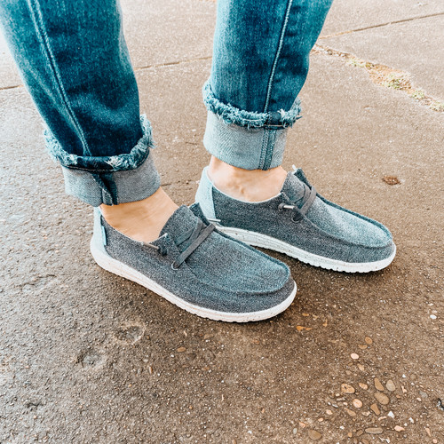 Hey Dude Wendy - Chambray Sparkling Blue