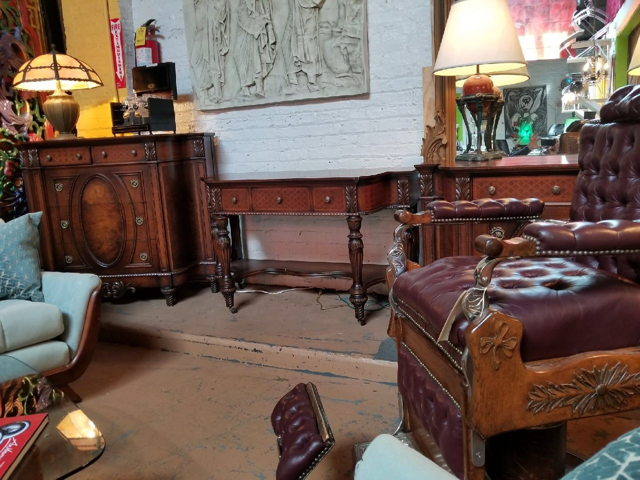 Pleasant Antique Herman Miller Art Nouveau Neoclassical Flame Mahogany And Carved Walnut 5Pc Dresser And Bedroom Set Download Free Architecture Designs Osuribritishbridgeorg