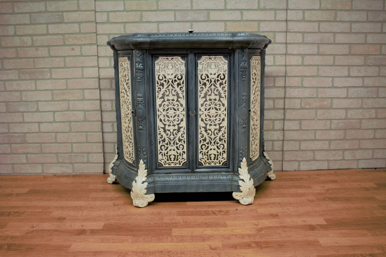 Antique Ornate French Victorian Style Radiator Cover Vintage Grind House