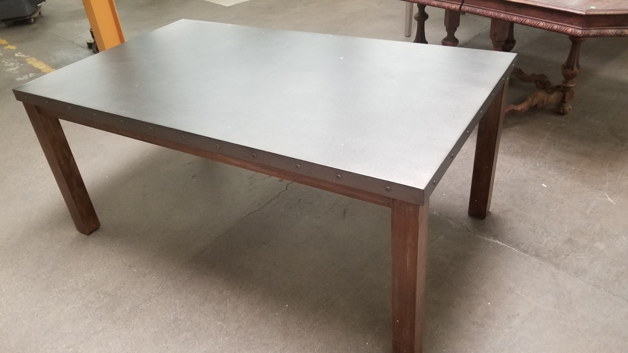 Steel Topped Dining Table