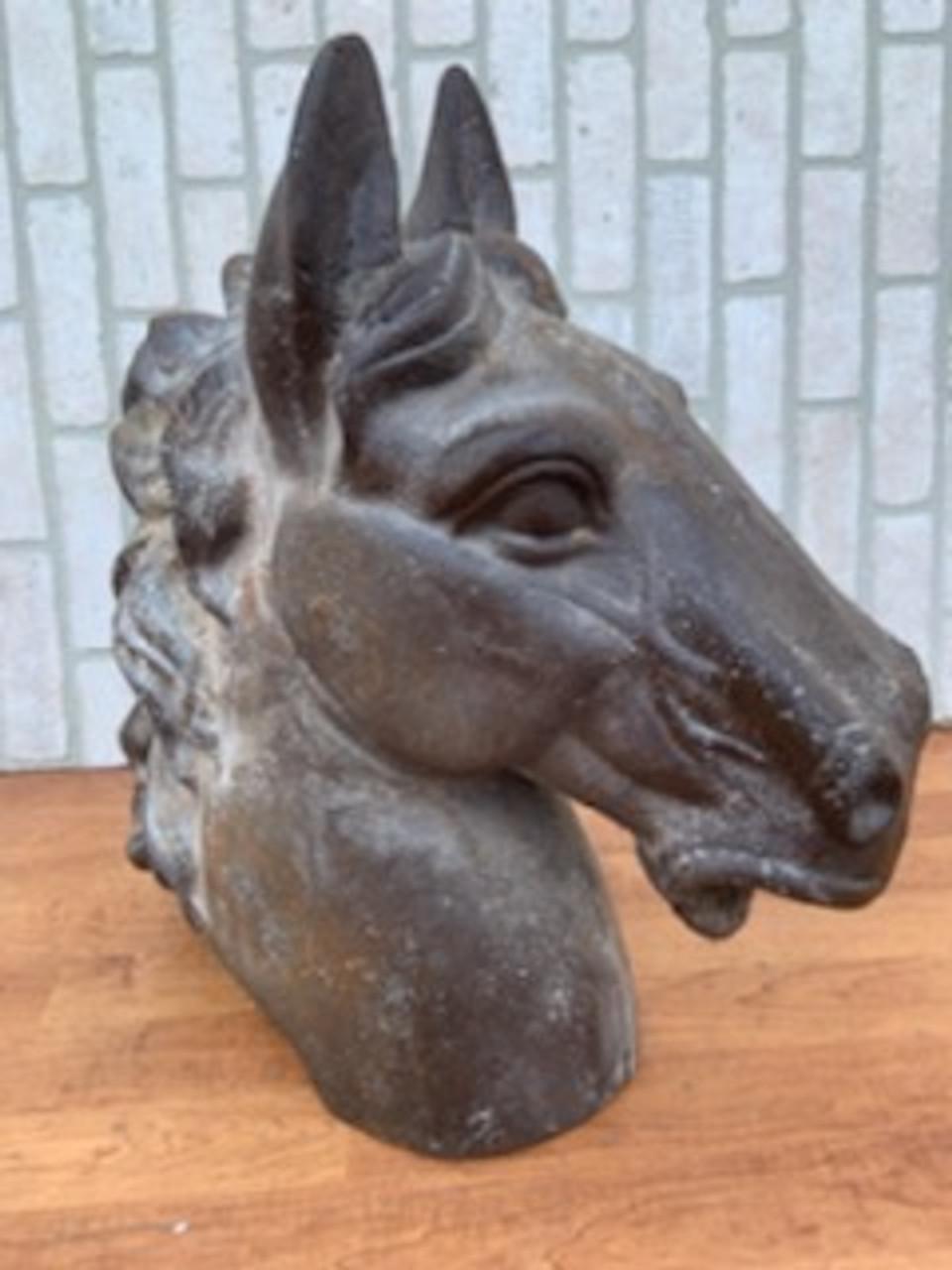 Vintage Steel Horse Head Statue Vintage Grind House