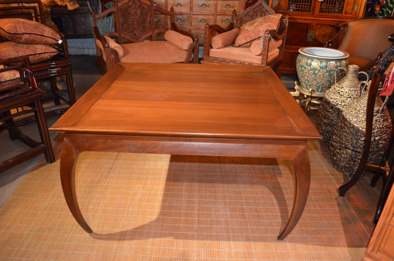 Vintage Mid Century Modern Harden Square Cherry Wood Coffee Table