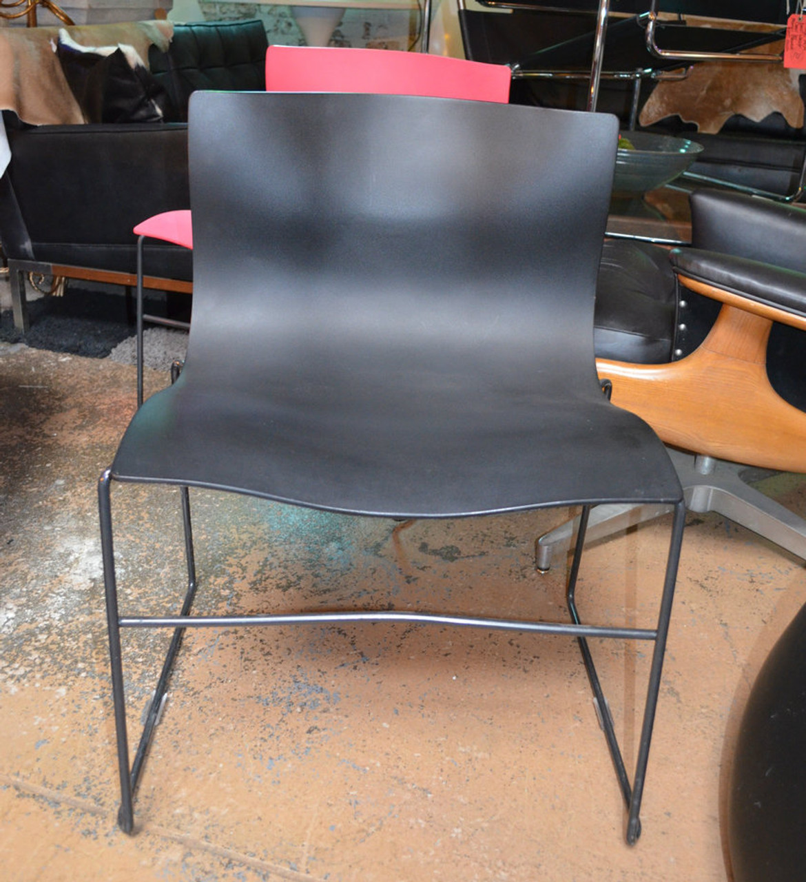 Vintage Mid Century Modern 5 Massimo And Lella Vignelli For Knoll Handkerchief Chairs In Black Vintage Grind House
