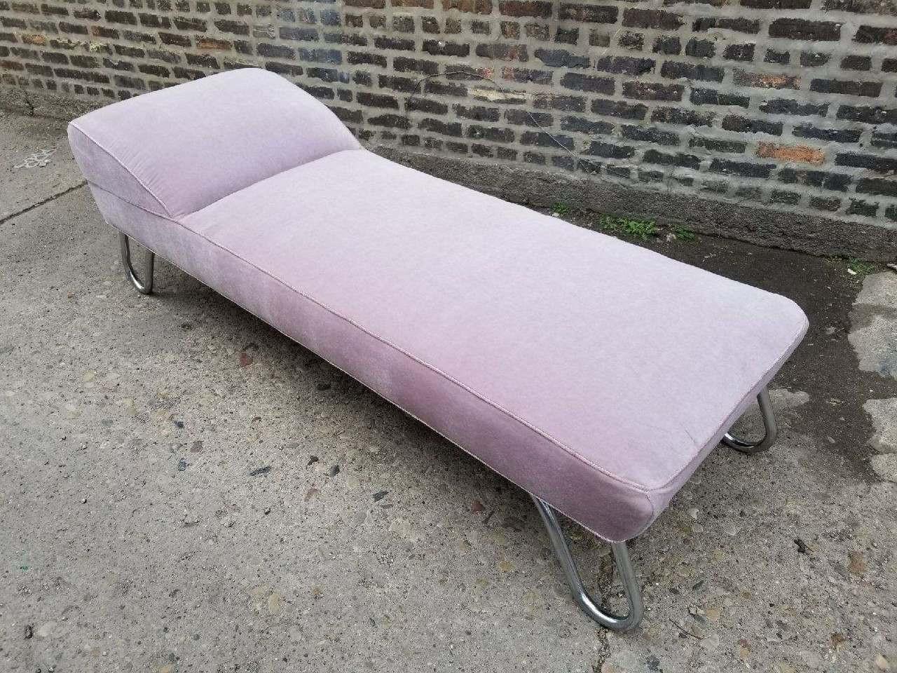 Kem Weber Art Deco Streamline Moderne Chaise Lounge Daybed Vintage