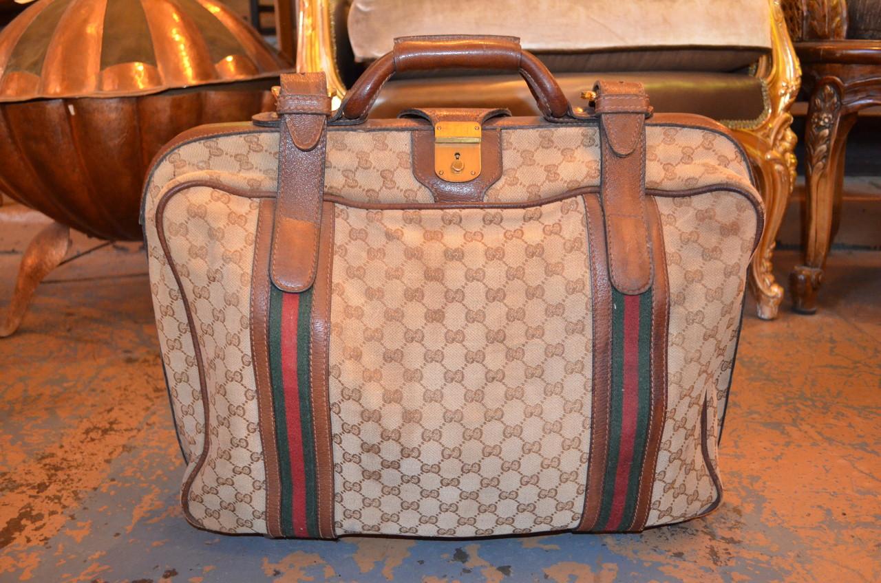 95477121615c Gucci Vintage Traveling Bag Luggage - Vintage Grind House