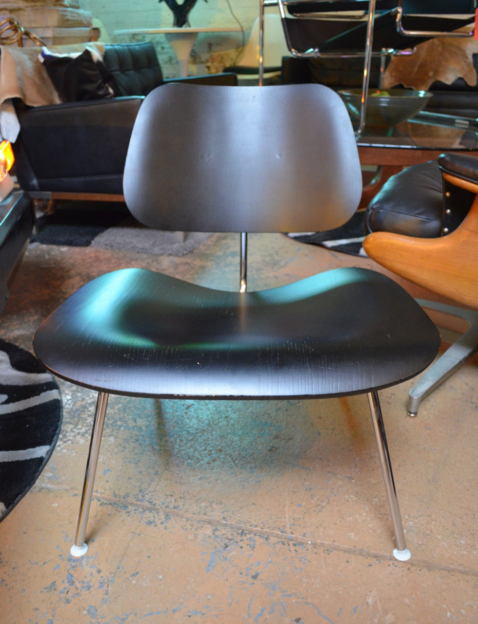 Vintage Herman Miller Chairs >> Vintage Herman Miller Black Wood Chairs Pair