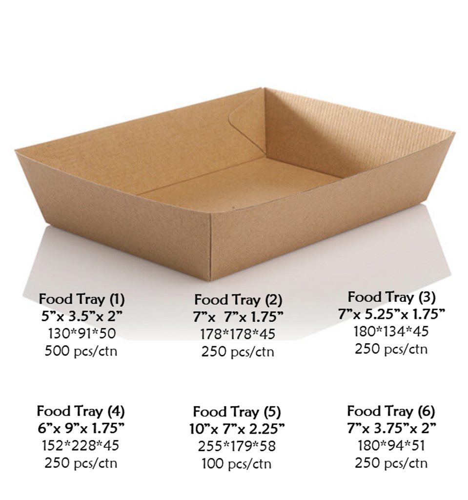 Food Tray (Case quantities vary by tray size)