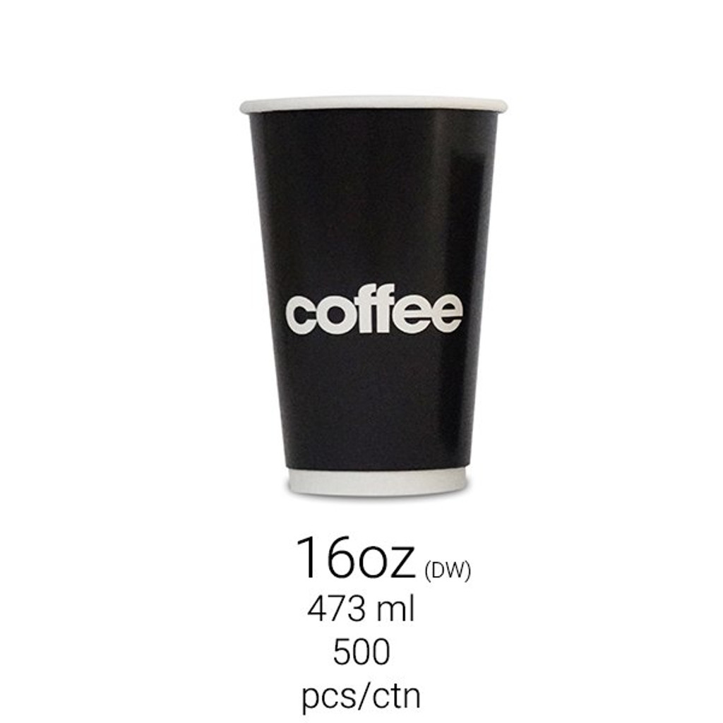 Hot Drink Cup 16oz - Double Wall