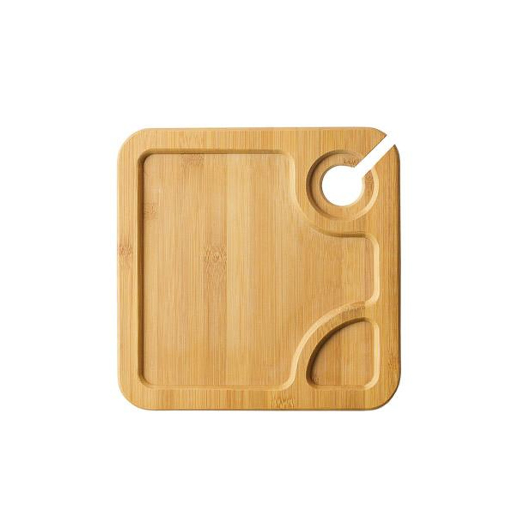 """Bambooware Wine Plate Square Reusable 8.75"""""""