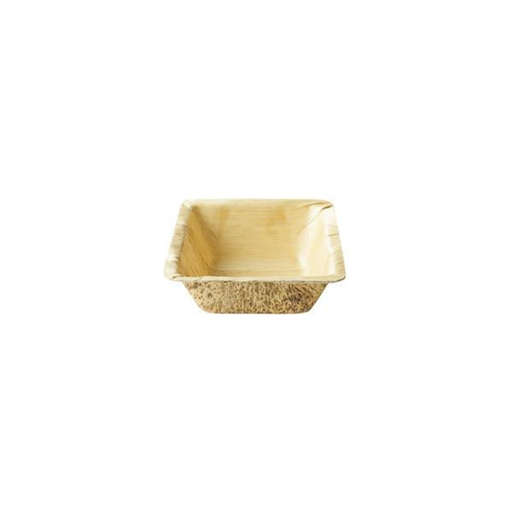"Bamboo Sheath Bowl Square Disposable 5.12""- 8 oz"