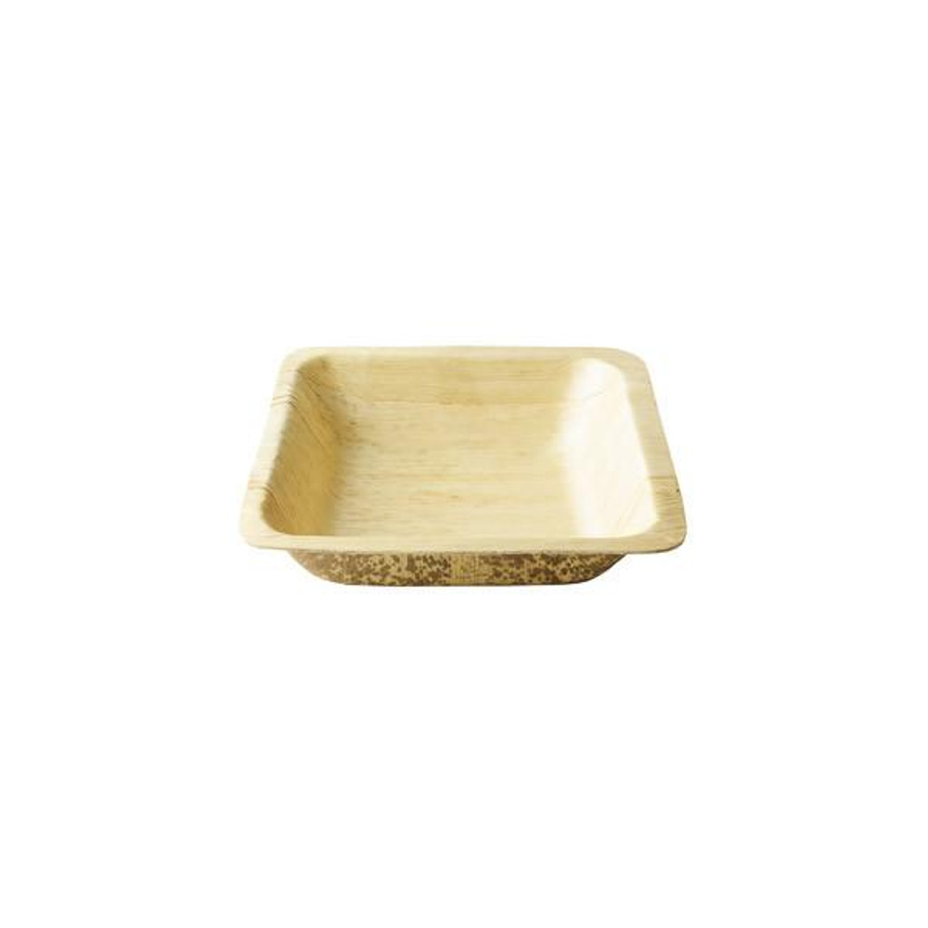 "Bamboo Sheath Bowl Square Disposable 7""- 16 oz"