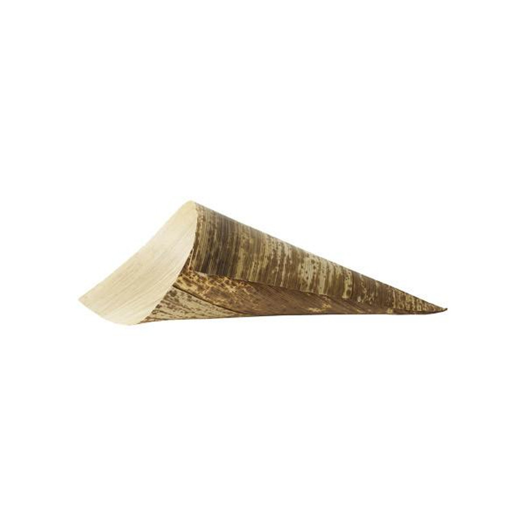 "Bamboo Sheath Cone Extra Large  Disposable 3.5"" x 10""- 10 oz"