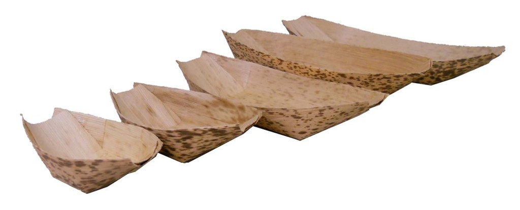 "Bamboo Sheath Boat Disposable 7""- 6 oz"