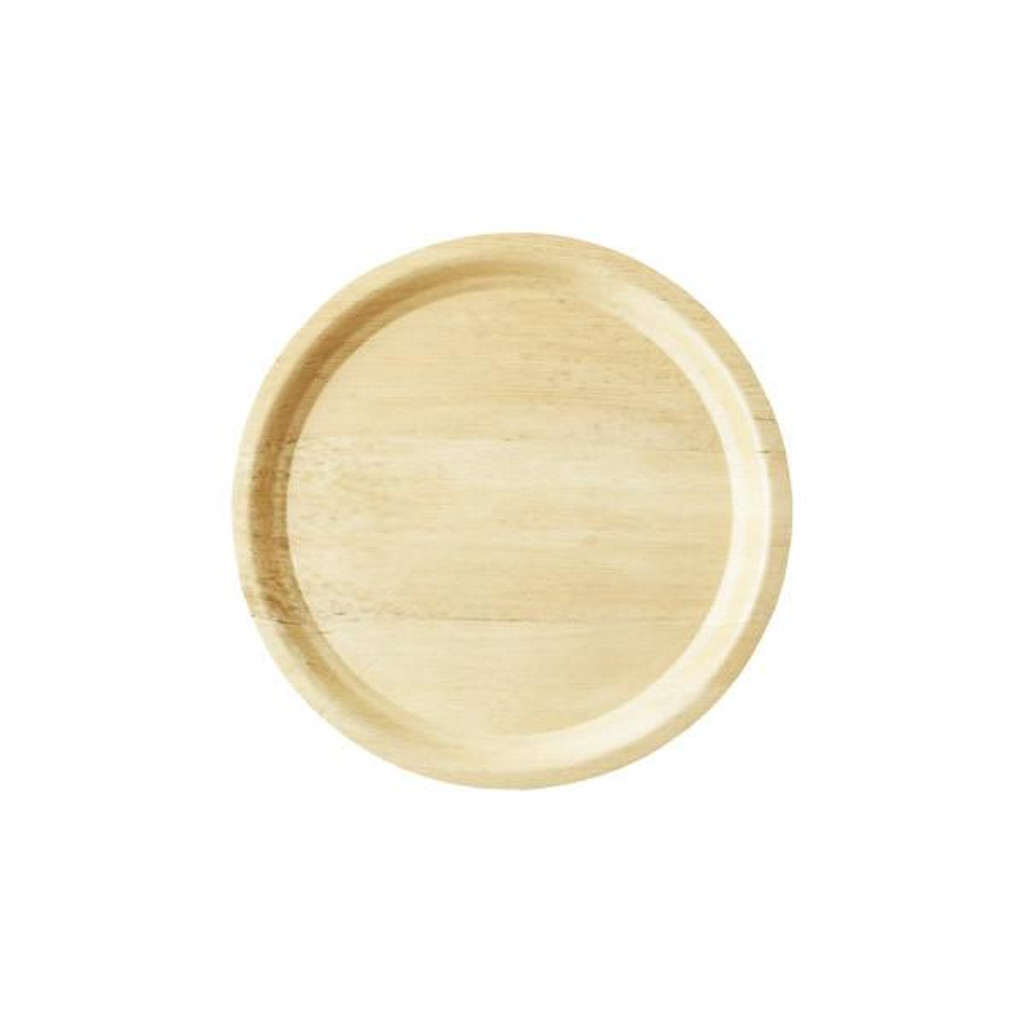 """Bamboo Sheath Cocktail Tray Round Disposable 13.25"""""""