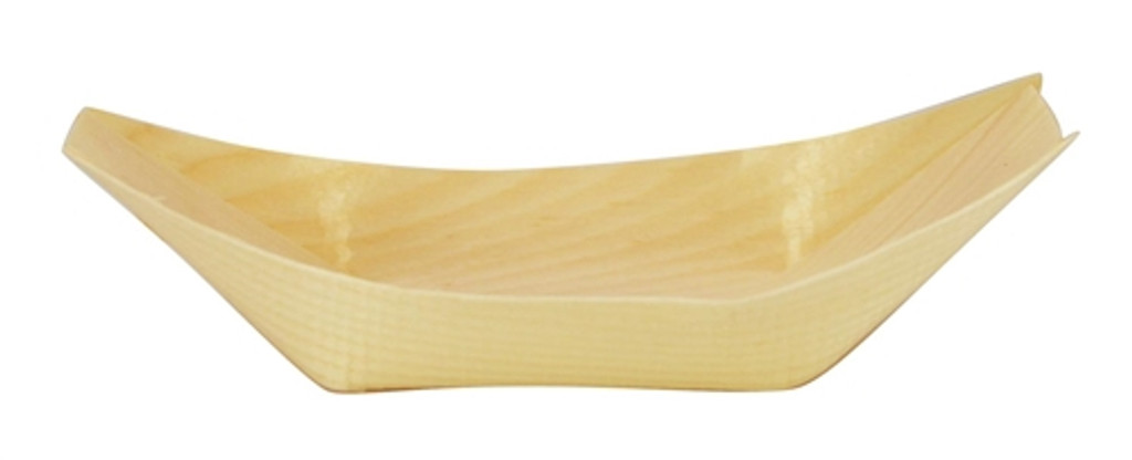 """Pinewood Appetizer Boat Disposable 4.5"""" x 2.6"""""""