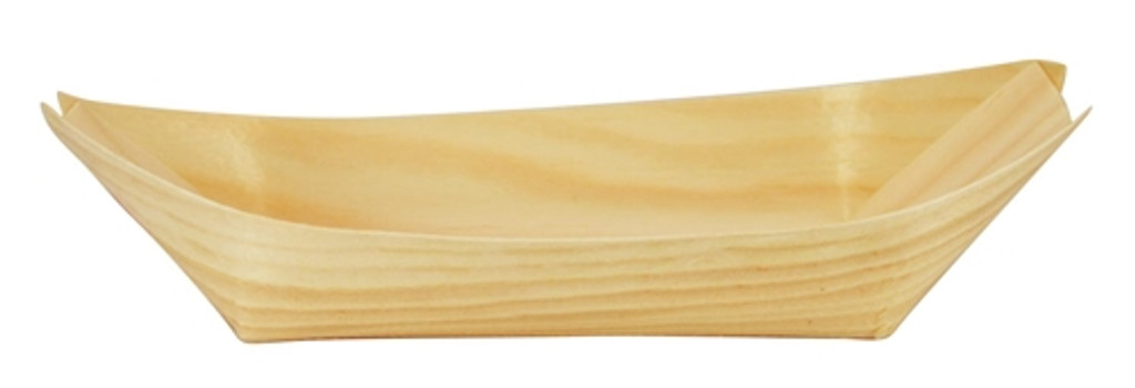 """Pinewood Appetizer Boat Disposable 5.3"""" x 3.2"""""""