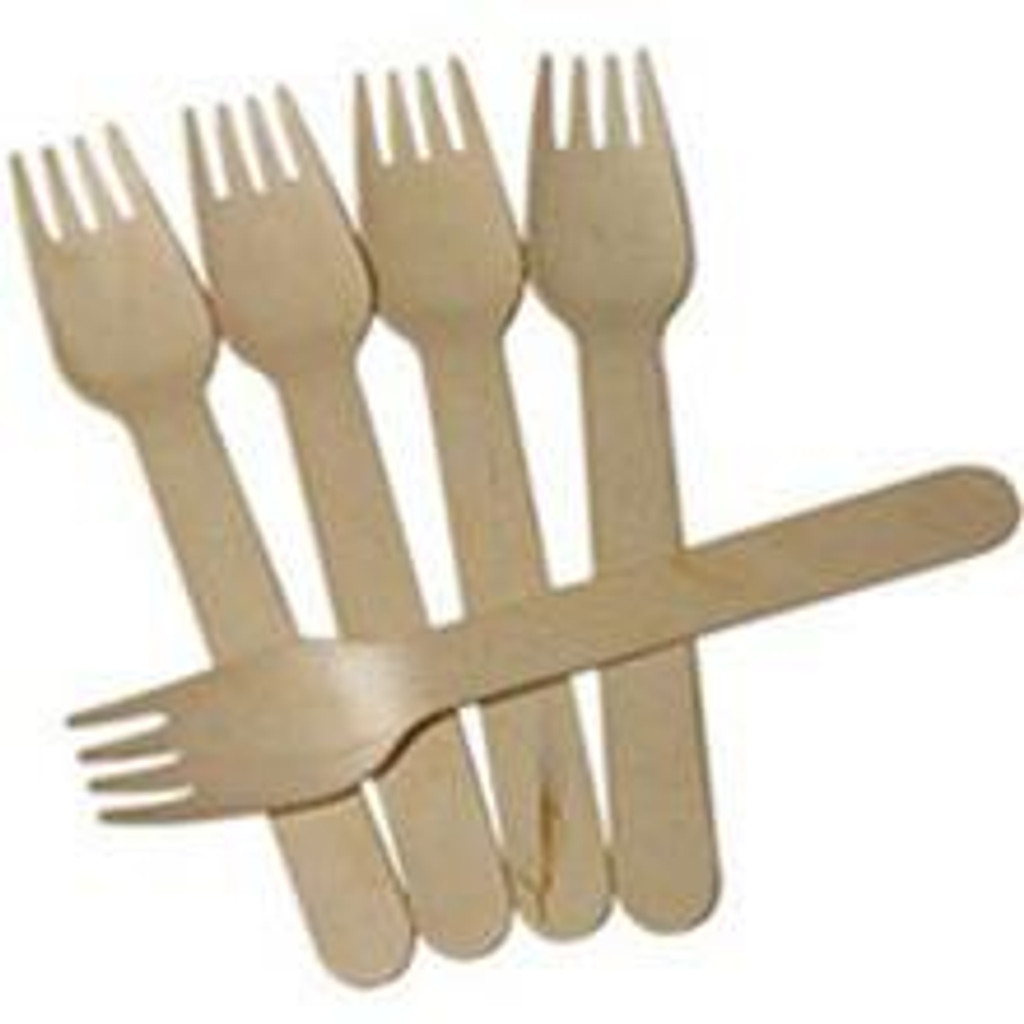 """Birch Wood Fork Disposable 6"""""""