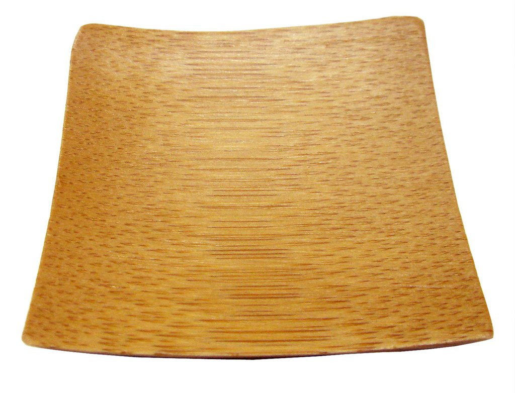 """Bamboo Plate Square Reusable 2.4"""""""