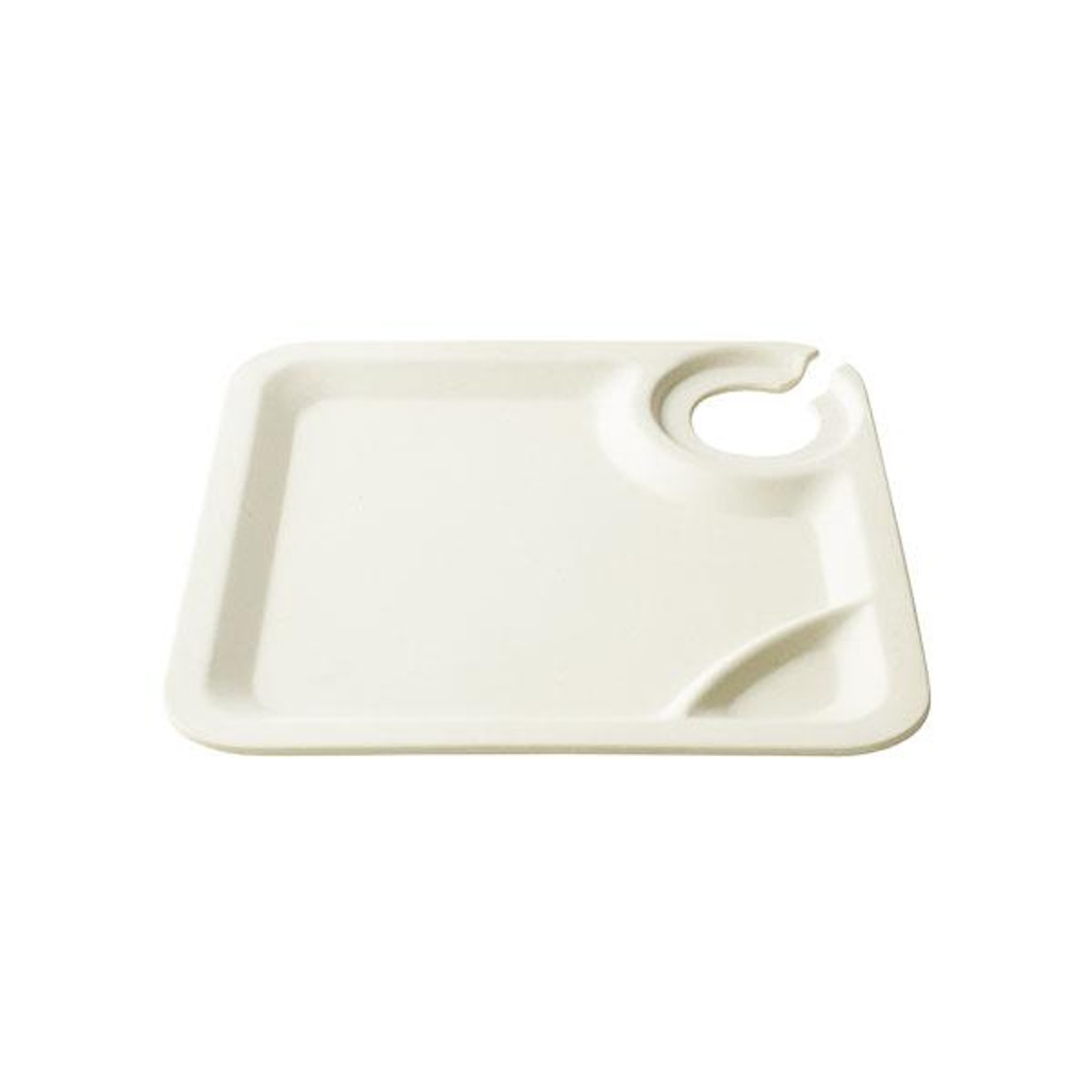 """Bambooware Wine Plate Square Reusable 9"""""""