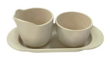 Bambooware Server Creamer/Sugar Set Reusable 3pc