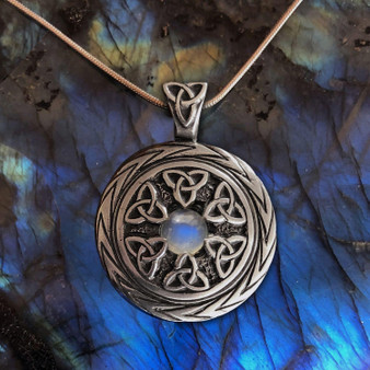 Limited Edition! Triquetra Pendant with Moonstone – Celtic Traditions