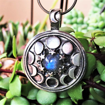 Phases of the Moon Pendant