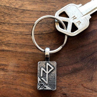 Essential Workers Bindrune Key Chain - Strength Protection Resilience Victory