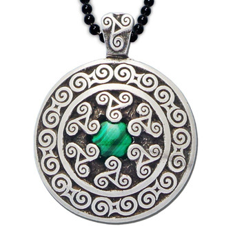Triskele Pendant with Malachite – Celtic Traditions