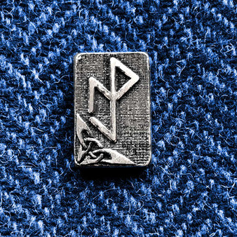 Essential Workers Bindrune Lapel Pin - Strength Protection Resilience Victory